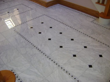 Floor Designs Of Marble : Same Foyer Floor Viewed From Nd Stair Landing  Notice Accent